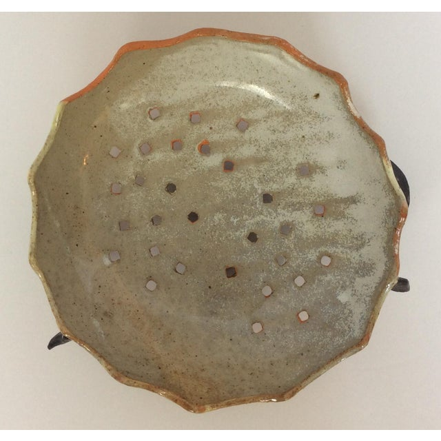 Perforated Art Pottery Bowl - Image 3 of 5