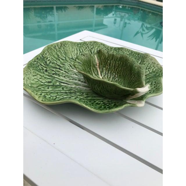 Portugal Cabbage Ware Serving Platter For Sale - Image 9 of 11