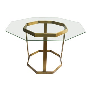 Vintage Milo Baughman Brass Dining Table