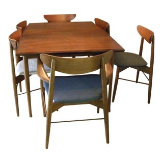 """1960s Vintage """"Madmen"""" Style Dining Room Set- 7 Pieces For Sale"""