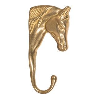 Vintage Brass Horse Coat Hook C. 1950-1970 For Sale