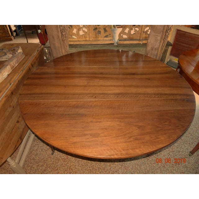Wood Walnut Epoch Directoire Dining Table For Sale - Image 7 of 12