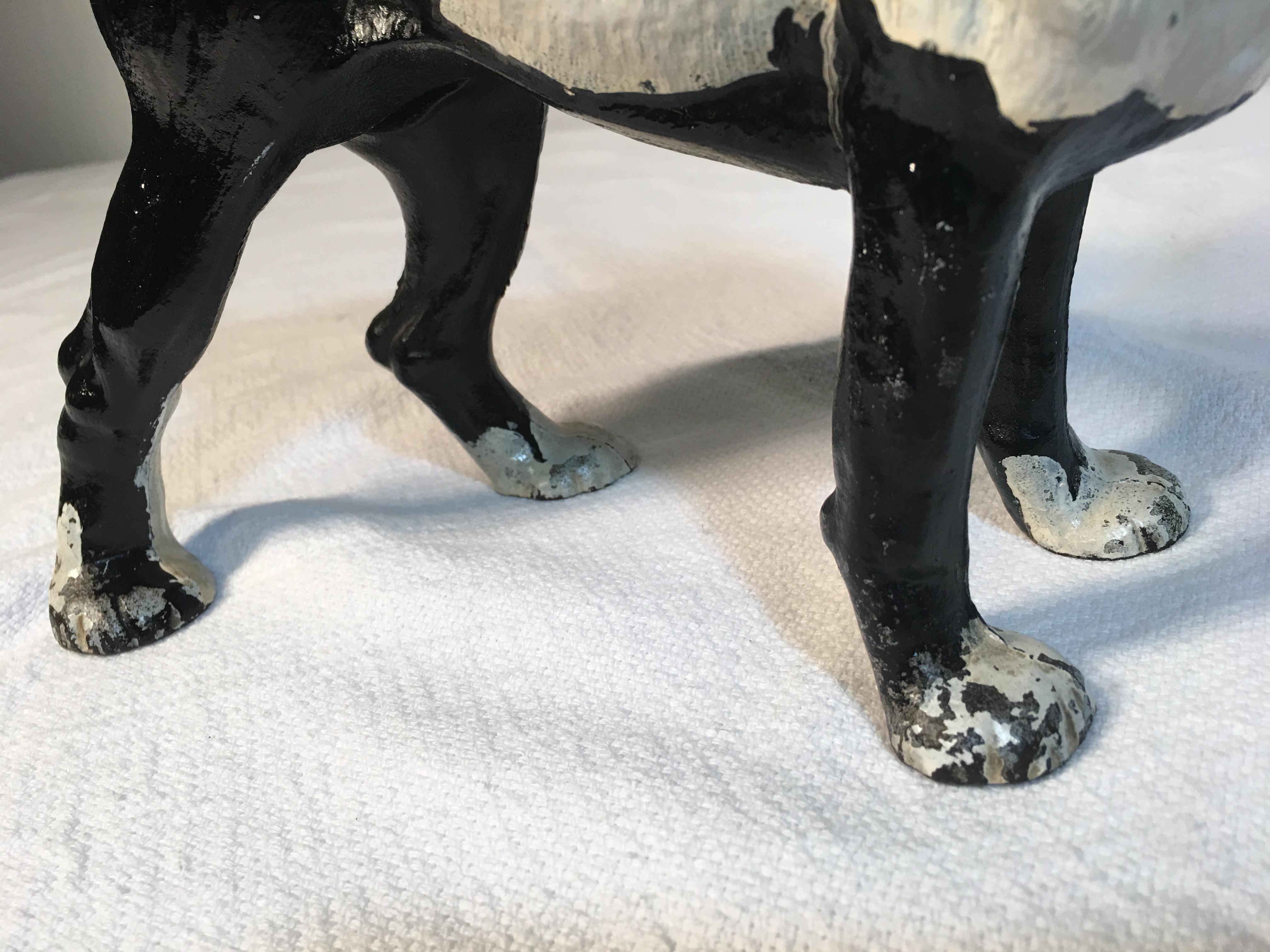 Vintage Hubley Boston Terrier Cast Iron Door Stop   Image 7 Of 8