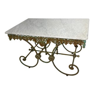 20th Century Victorian Marble Patio Table For Sale