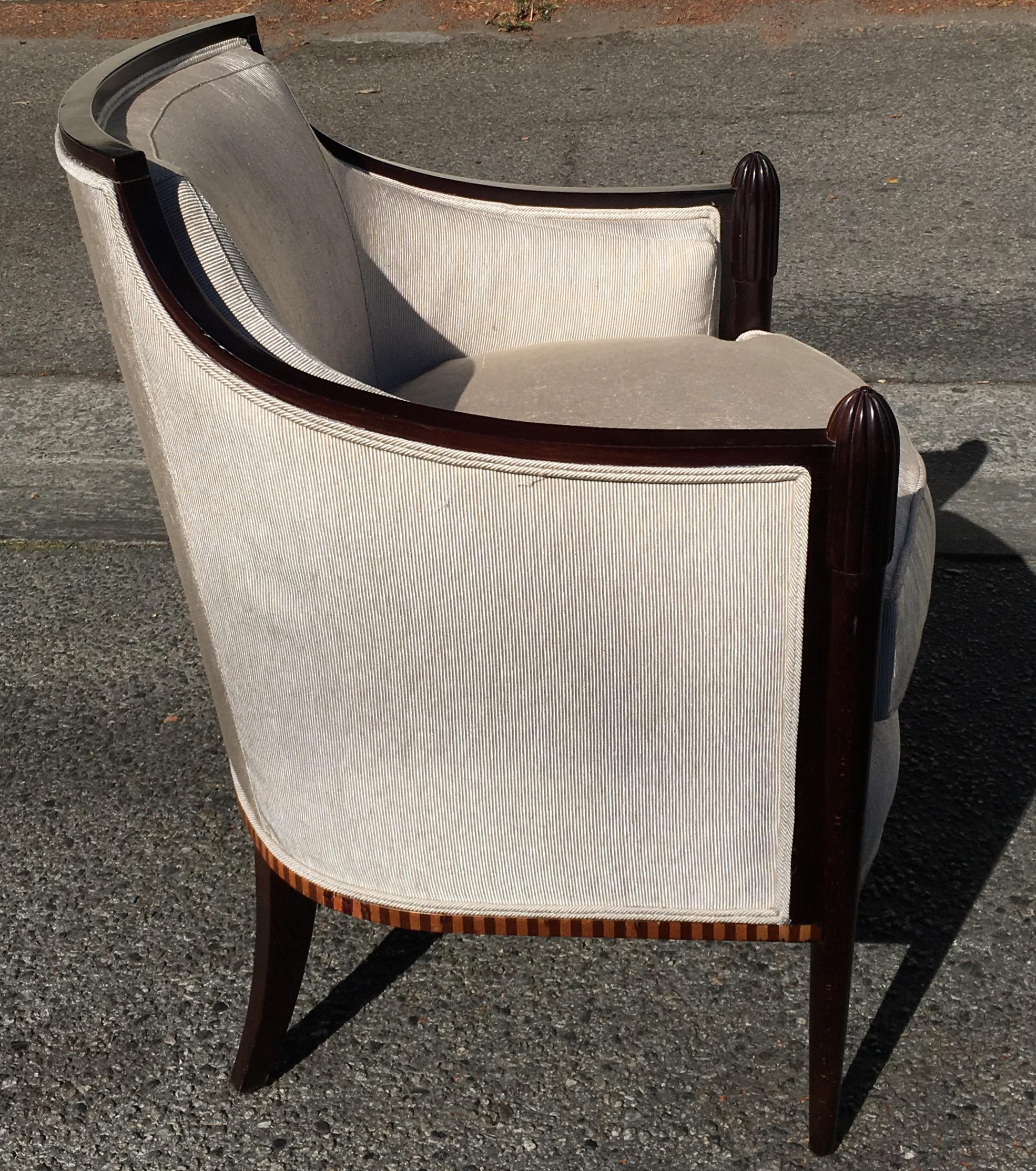 Barbara Barry Baker Furniture Company Art Deco Club Chair   Image 4 Of 7