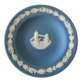 Vintage Blue Wedgwood Jasperware Plate For Sale
