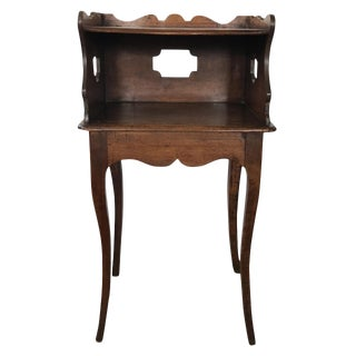 Early 19th C French Fruitwood Bedside Stand