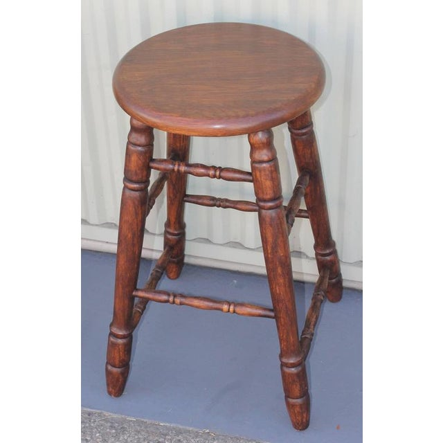 Set of Four Matching Bar Stools For Sale - Image 4 of 10