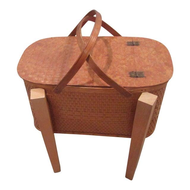 Vintage Picnic Basket Side Table - Image 1 of 11