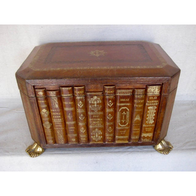 Vintage English Book Leather Box For Sale - Image 11 of 11