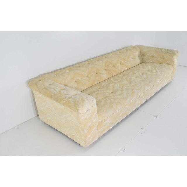 Yellow Edward Wormley for Dunbar Party Sofa Model 5407, Pair Available For Sale - Image 8 of 10