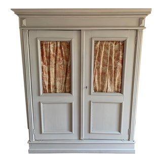 Gustavian Swedish Empire Style Armoire Cabinet For Sale