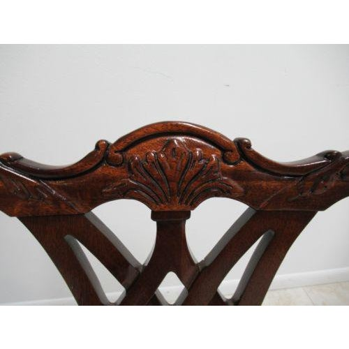 Thomasville Solid Mahogany Chippendale Dining Arm Chairs - a Pair For Sale - Image 10 of 12