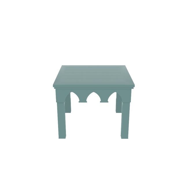Oomph Oomph Ocean Drive Outdoor Side Table, Green For Sale - Image 4 of 5