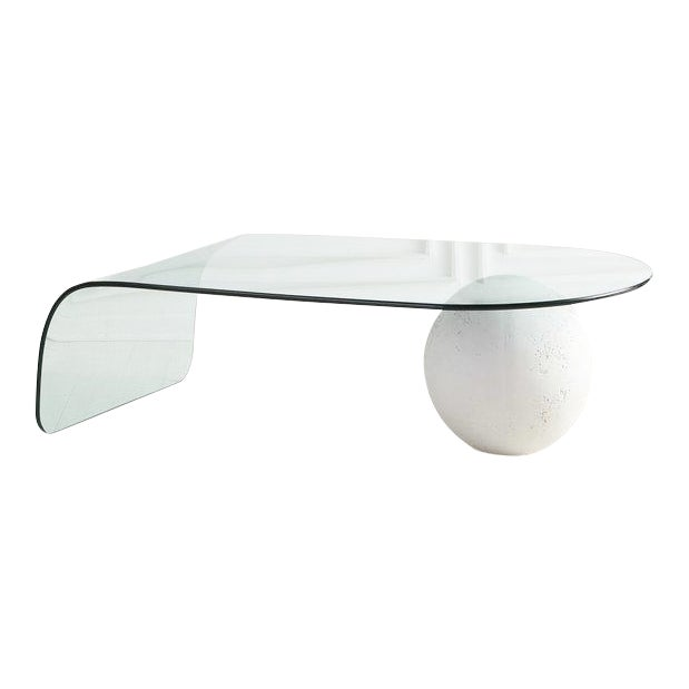 Glass and Plaster Ball Coffee Table For Sale