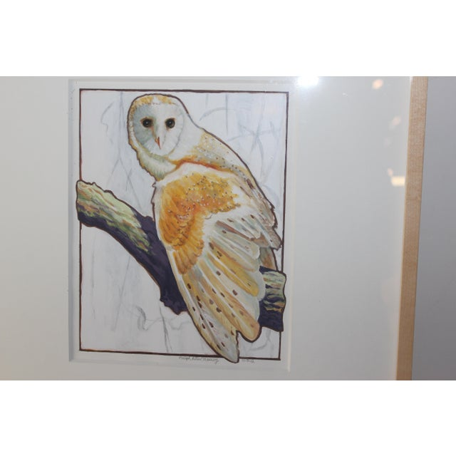 Owl Watercolor Painting - Image 3 of 4