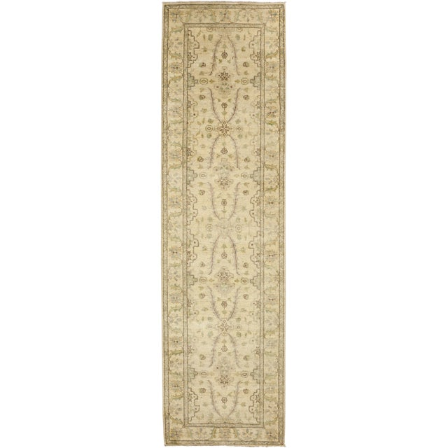 """New Oushak Hand Knotted Runner - 2'7"""" x 9'4"""" - Image 1 of 3"""