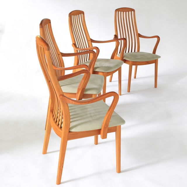 1960s 1960s Mid Century Modern Schou Andersen Teak Dining Chairs - Set of 2 For Sale - Image 5 of 9