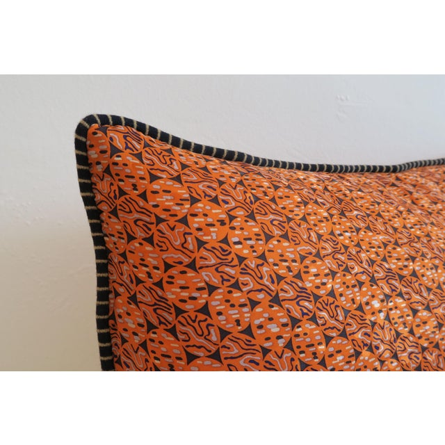 Custom Orange Pattern Pillows - a Pair - Image 4 of 4