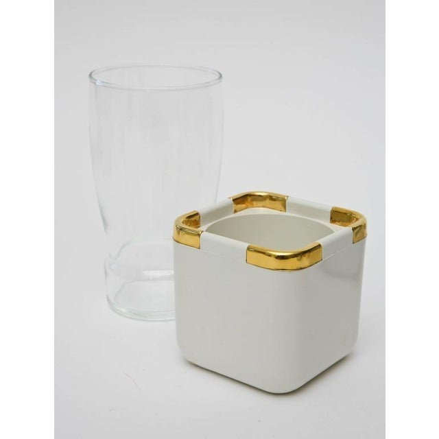 Set of 17 Resin,Glass and Gold-Plated Patio/Garden Pool Drinking Glasses For Sale In Miami - Image 6 of 11
