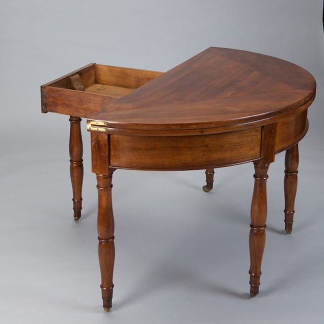 19th Century French Walnut Flip Top Game Table - Image 6 of 7