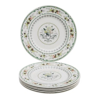 English Fine China Plates by Royal Doulton - Set of 6 For Sale