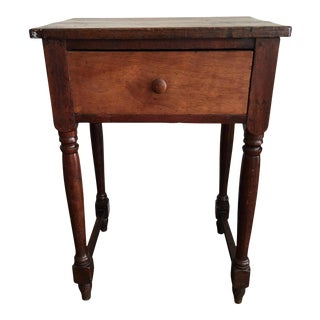 Rustic Antique Drop Leaf Work Table For Sale