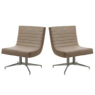 Aim Lounge Aim Guest Chairs W/ Glides - a Pair For Sale