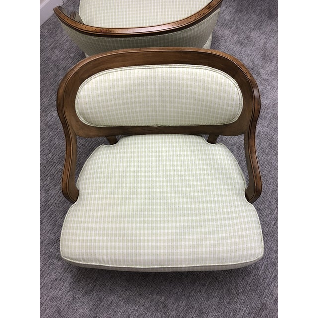 Grosfeld House Inspired Bedroom Chairs - a Pair For Sale - Image 9 of 11