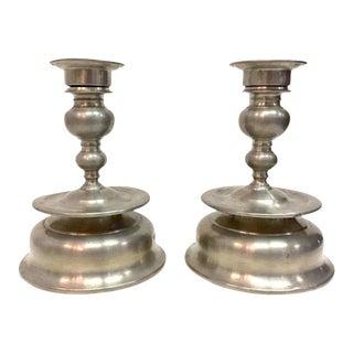 Hr Tinn Convertible Candlestick Holders - a Pair For Sale