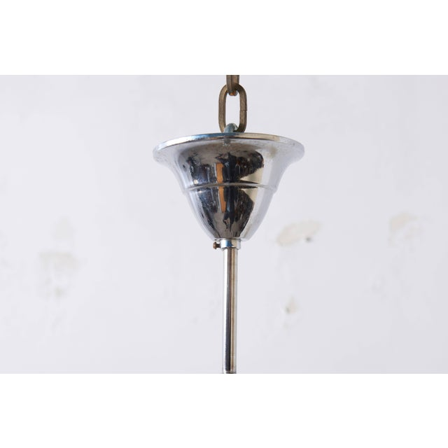Silver Amber Glass Disc Vistosi Chandelier For Sale - Image 8 of 11