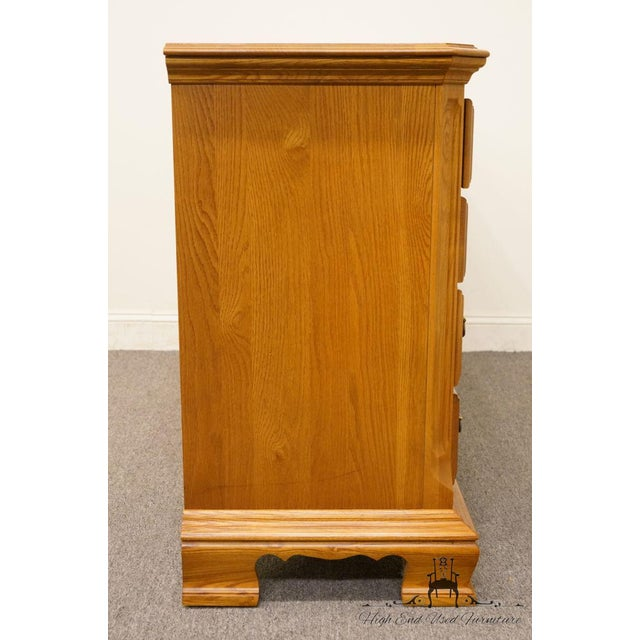 "Sumter Cabinet Co. Solid Oak Country French 64"" Double Dresser For Sale - Image 12 of 13"