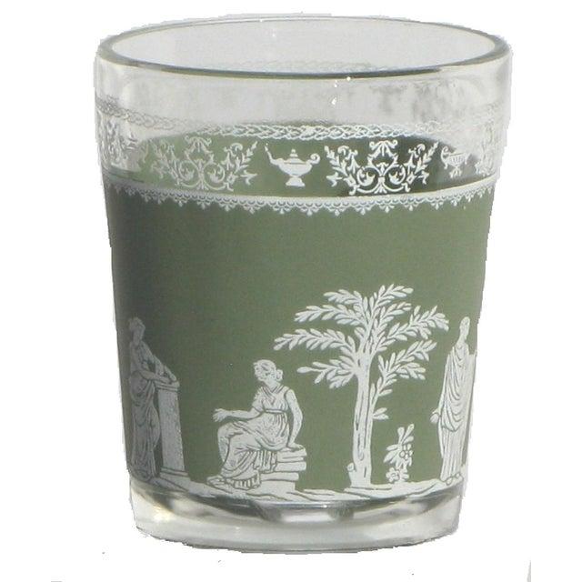 Wedgwood-Style Green & White Glasses - Set of 8 - Image 2 of 3