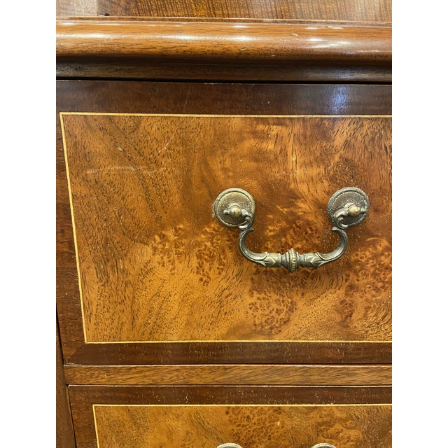Vintage Mahogany Breakfront With Butlers Desk For Sale - Image 10 of 12