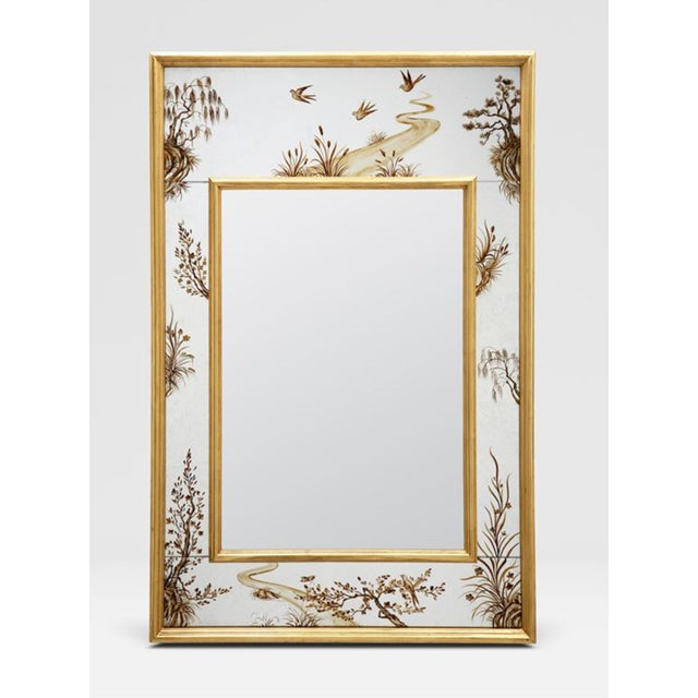 Wood Made Goods Asian Chinoiserie Eloise Wall Mirror For Sale - Image 7 of 7