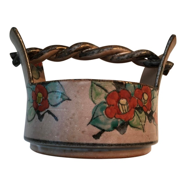 Japanese Art Deco Pottery Bowl For Sale