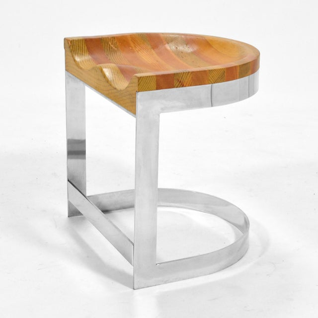 Warren Bacon Low Stool For Sale In Chicago - Image 6 of 10