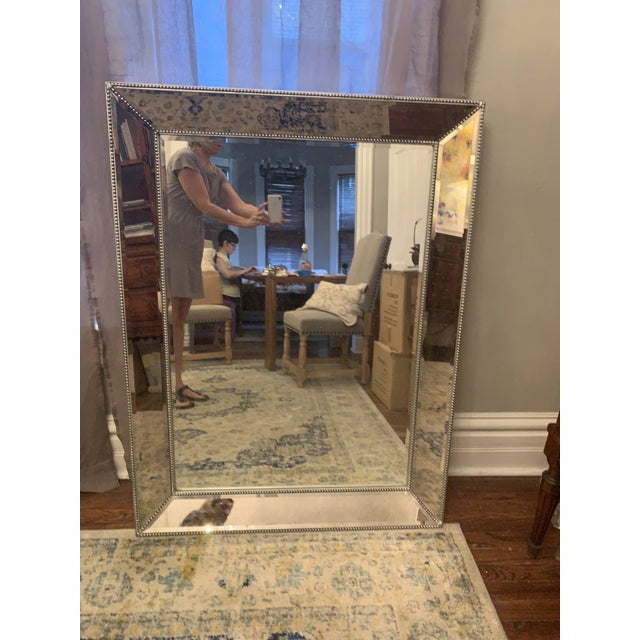 Restoration Hardware Venetian Beaded Mirror For Sale - Image 11 of 11