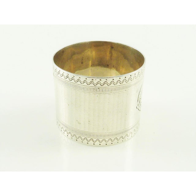 19th Century Antique Victorian Era Sterling Silver Childs Napkin Ring Christening Gift For Sale - Image 5 of 7