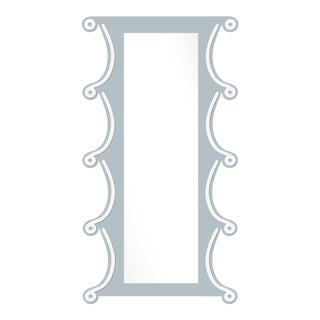 Fleur Home x Chairish Voodoo Mirror in Parma Gray, 42x84 For Sale