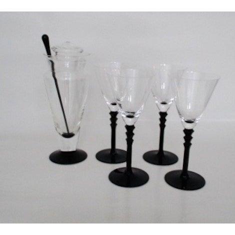 Vintage Cocktail Set 6 Piece- Art Deco-Style Glass - Image 2 of 8