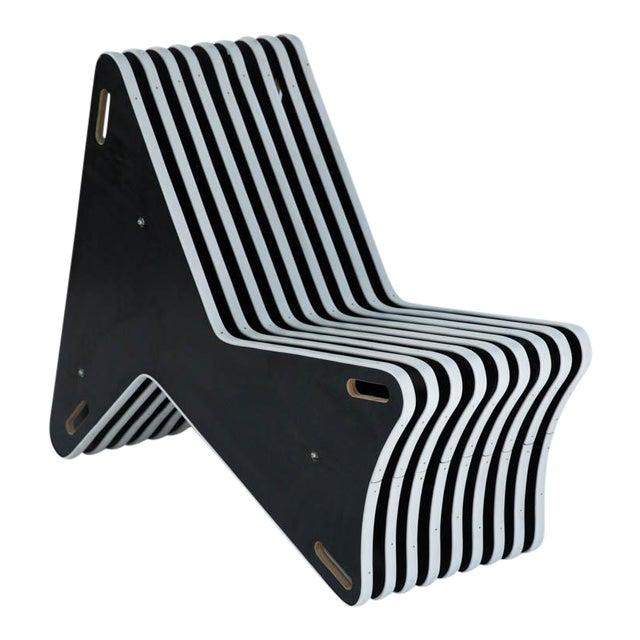 modern plywood skeleton chair chairish