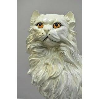 "Vintage Italian Hollywood Regency Large 22"" Plaster Cat Figure Statue Sculpture Preview"