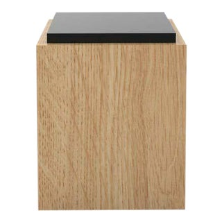 Contemporary 103 Side Table in Oak and Black by Orphan Work, 2020 For Sale