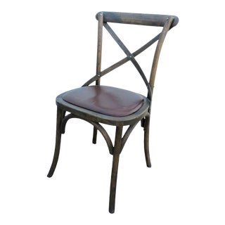 Restoration Hardware Oak Bistro Chair For Sale