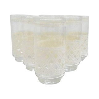 Hollywood Regency Faux Bamboo Tumblers - Set of 6 For Sale