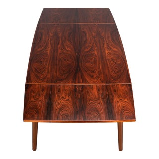 Mahogany Extendable Dining Table by Kai Kristiansen for Fm Møbler, 1960s For Sale