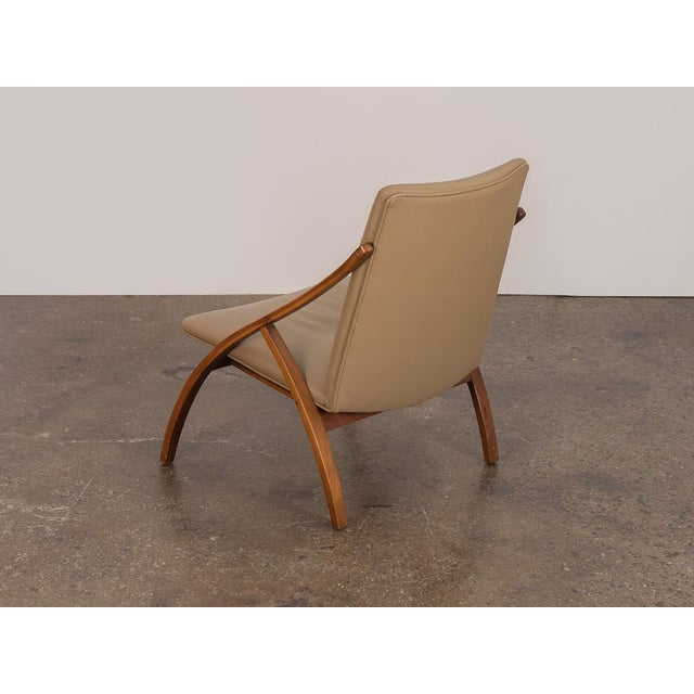 1960s Swedish Armless Sculpted Lounge Chair For Sale - Image 5 of 10