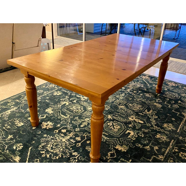 Cabin Broyhill Wood Dinning Room Set With Hutch For Sale - Image 3 of 6