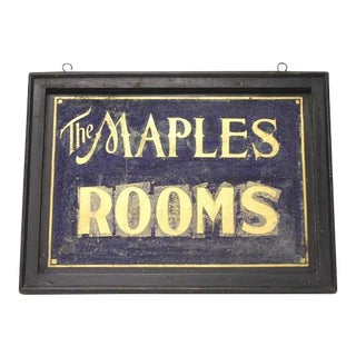 1900's Double Sided Tin Sign For Sale